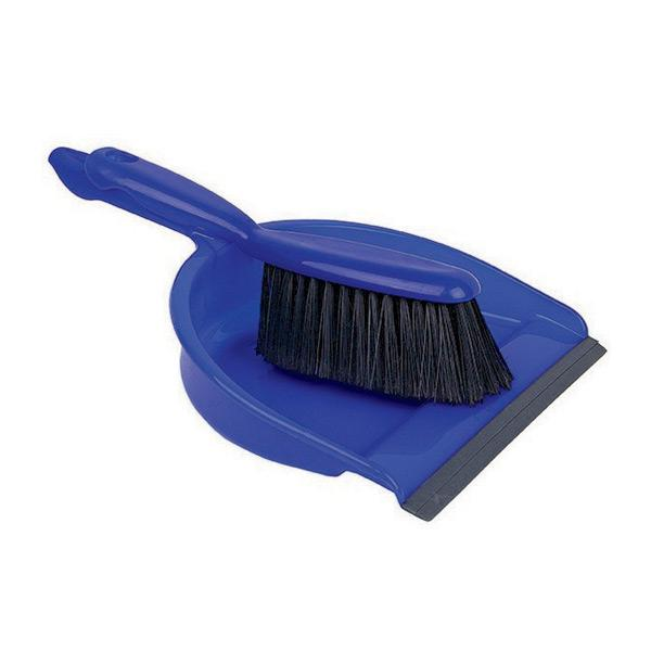 Plastic-Dustpan---Brush-Set---Blue