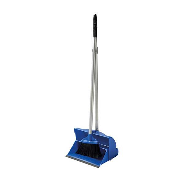 Long-Lobby-Handled-Dustpan---Brush---Blue