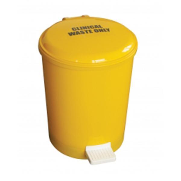 20L-Yellow-Plastic-Pedal-Bin