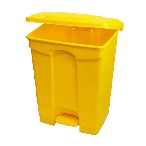 87-litre-Yellow-Plastic-Pedal-Bin--enclosed--