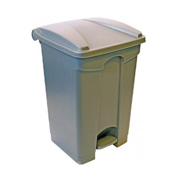 87-litre-Grey-Plastic-Pedal-Bin--enclosed--