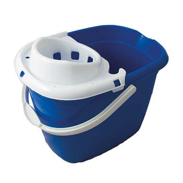 Plastic-Mop-Bucket-with-Wringer---Blue