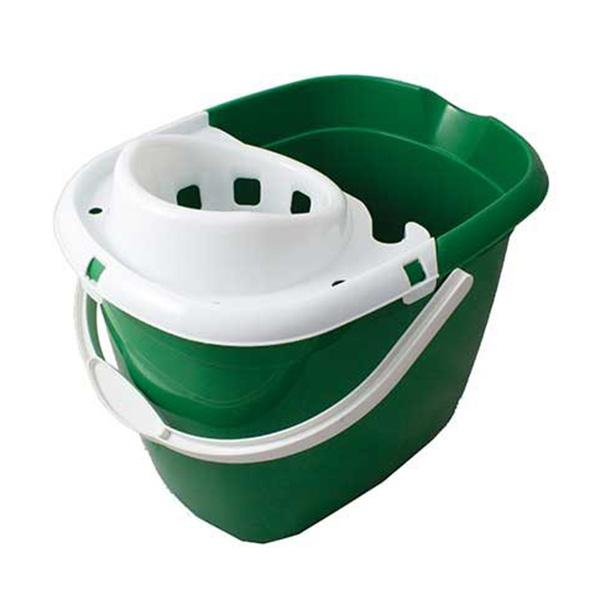 Plastic-Mop-Bucket-with-Wringer----Green