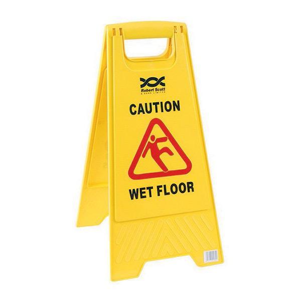 Dual-Warning-Caution-Wet-Floor-Sign