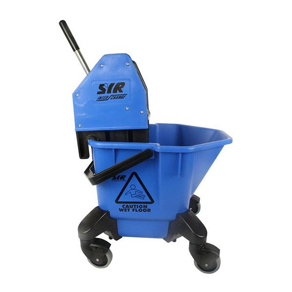 Wheeled-Bucket---Wringer---Blue