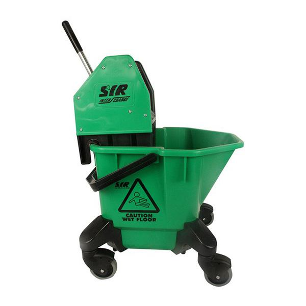 Wheeled-Bucket---Wringer---Green