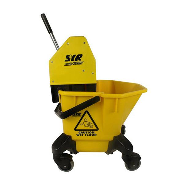 Wheeled-Bucket---Wringer---Yellow