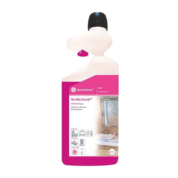 Nu-Bio-Scrub-Dosing-Bottle-One-Flip--Lactic-Acid-Based--Daily-Descaler--Sani-Cleaner