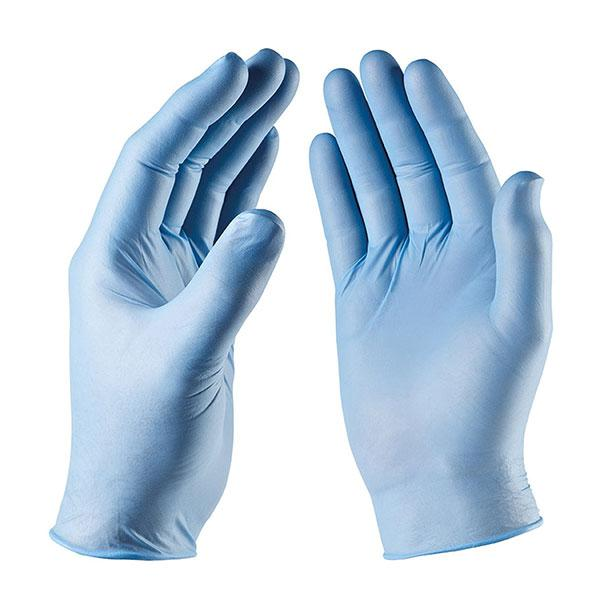 Single-Pair-Of-Nitrile-Blue-Gloves---Large
