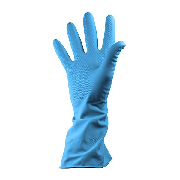 PAIR-Rubber-Household-Gloves-Large---Blue