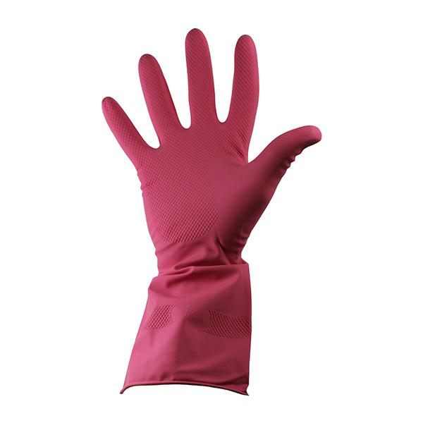 Rubber-Household-Gloves-Medium--Red