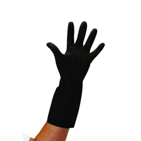 LARGE-Thick-Black-Rubber-Gloves