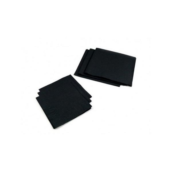 25cm-Cocktail-Napkins---2ply---Black
