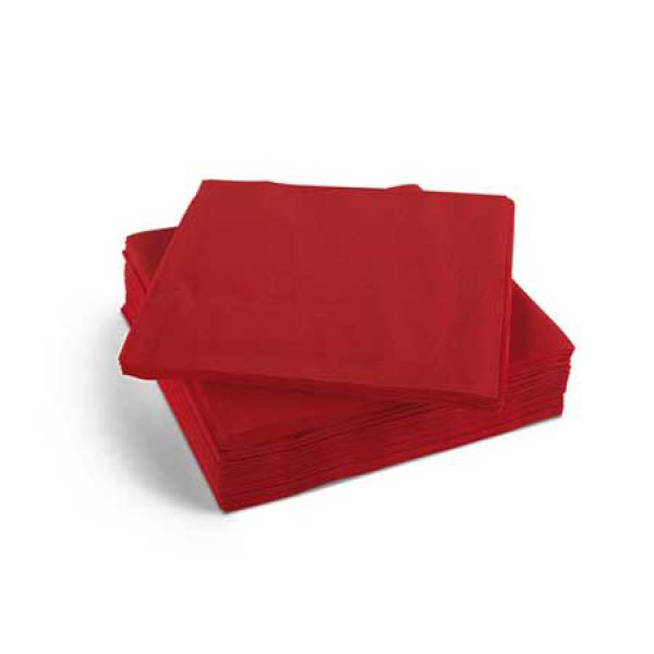 25cm Cocktail Napkins - 2ply - Red