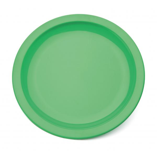 9--Polycarbonate-Rimmed-Plate---Emerald-Green