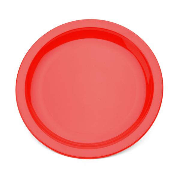 9--Polycarbonate-Rimmed-Plate---Red